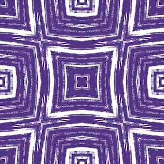Medaillon nahtlose muster. lila symmetrischer kaleidoskophintergrund. textilfertiger exotischer druck, bademodenstoff, tapete, verpackung. aquarell medaillon nahtlose fliese.