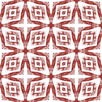 Medaillon nahtlose muster. weinroter symmetrischer kaleidoskophintergrund. textilfertiger wundersamer druck, bademodenstoff, tapete, verpackung. aquarell medaillon nahtlose fliese.