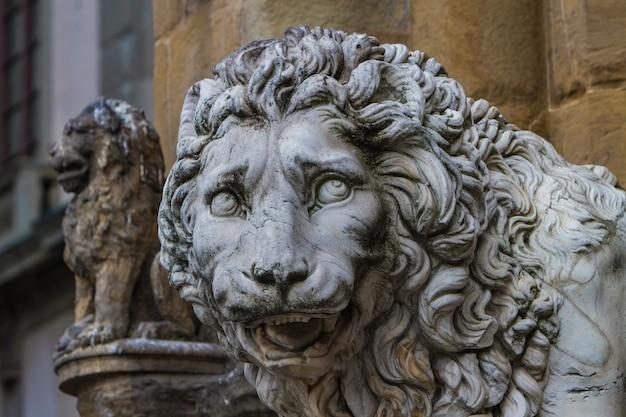 Medici-löwen aus florenz, italien