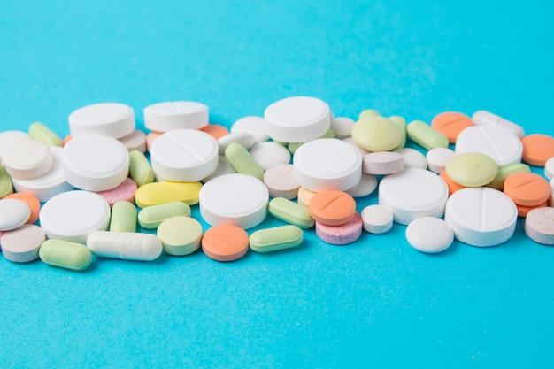 Medikamente pillen, medikamente und antibiotika. medizin und gesundheitswesen.