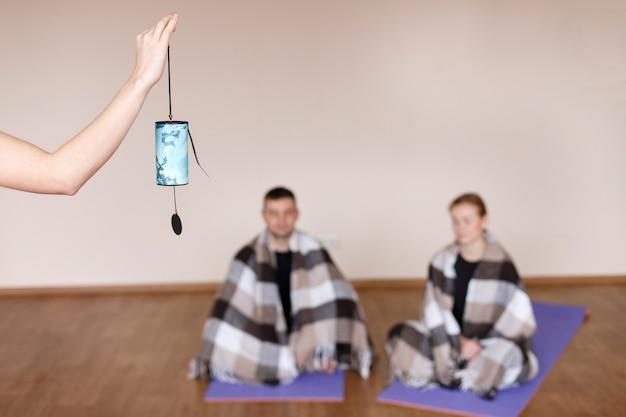 Meditation nach dem yoga-training