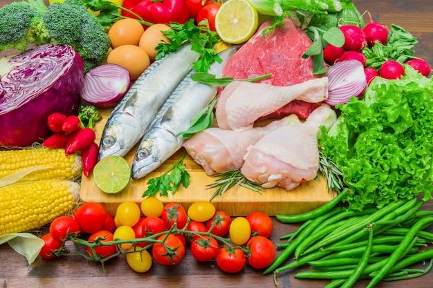 Mediterranena diät: fisch, fleisch und zutaten