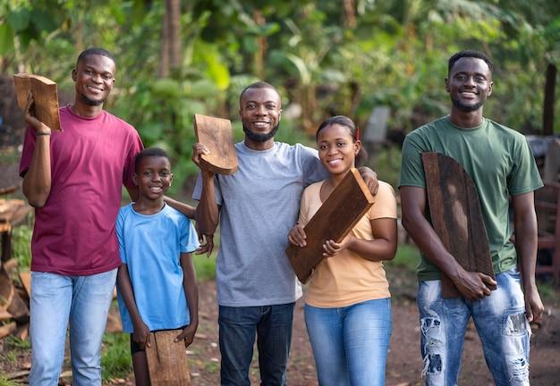 Medium shot happy community