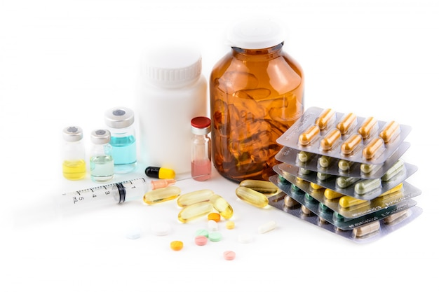 Medizin, pillen und impfstoff