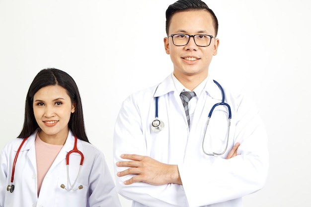 Medizinische arbeiter an der wand hintergrund