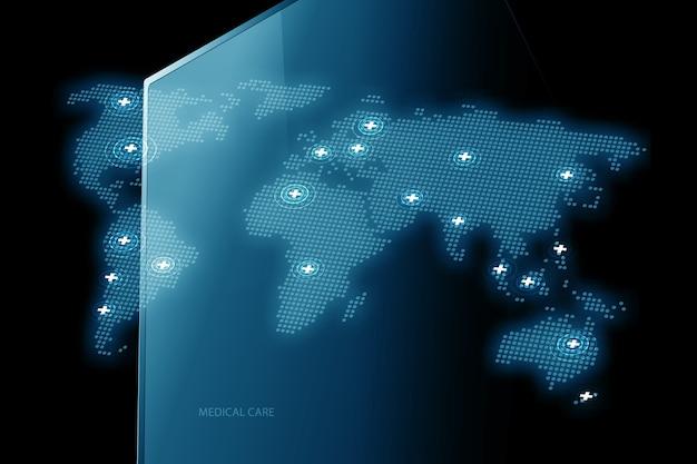 Medizinische dienstleistungen durch den weltweiten hintergrund