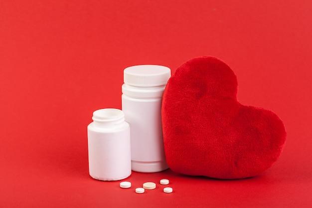 Medizinische flasche hautnah