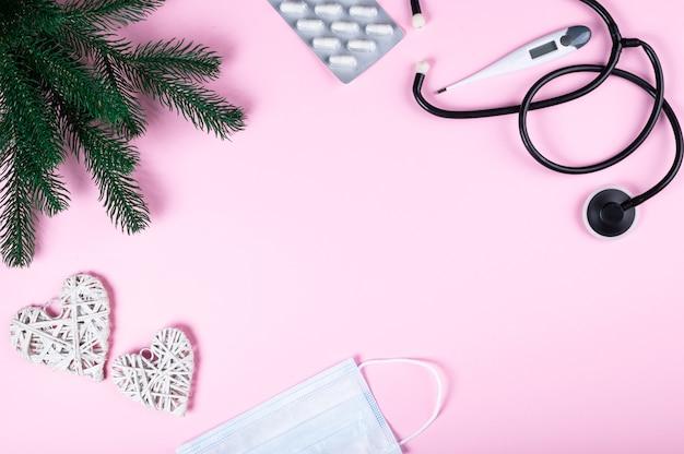 Medizinische geräte und weihnachtsdekoration