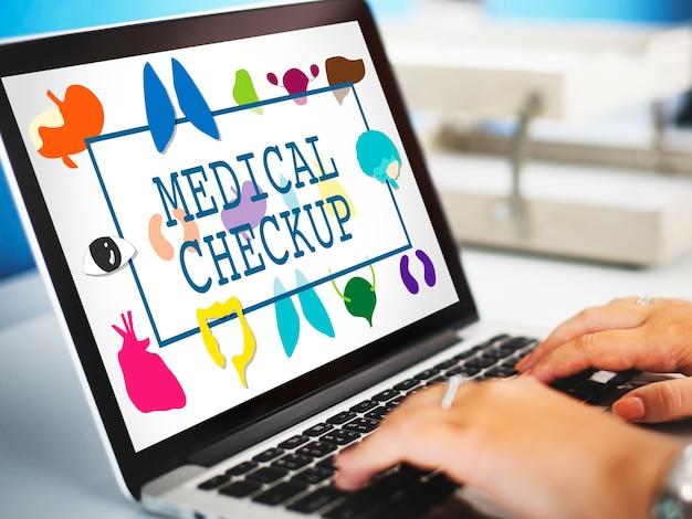 Medizinisches checkup-konzept zur vorbeugung im gesundheitswesen