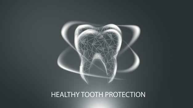 Medizinisches konzept folgt zahnschutz.