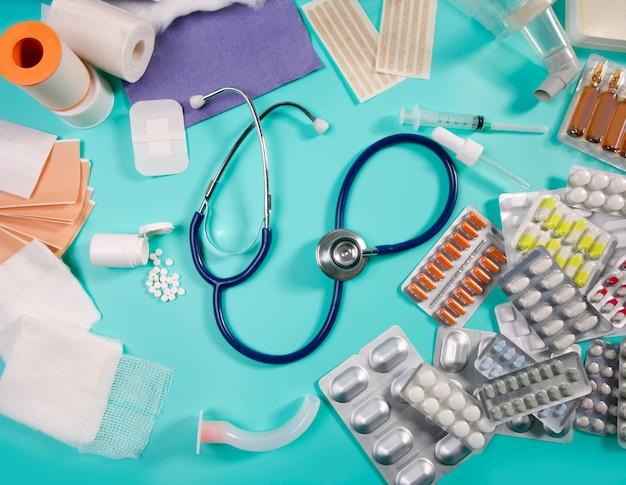 Medizinisches stethoskop des pharmazeutischen materials der blasenpillen