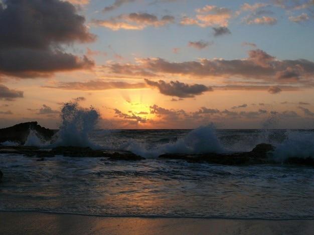 Meer sonne strand brandung wellen ozean, sonnenuntergang, sonnenaufgang
