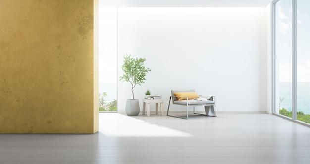 Meerblick wohnzimmer von luxus-strandhaus