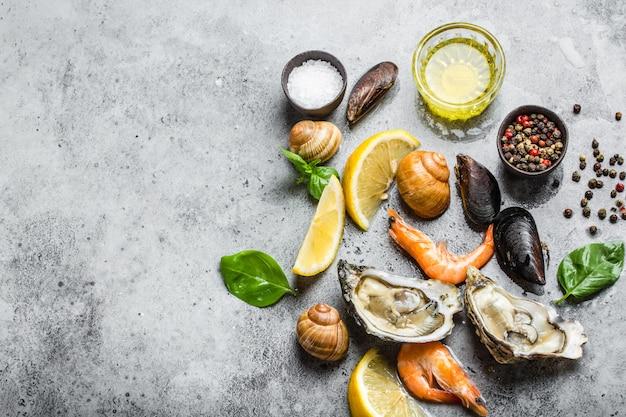 Meeresfrüchte frisches sortiment