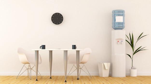 Meetingbereich oder speisekammer in office-3d-rendering