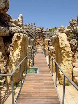 Megalith-tempel von ggantija, insel gozo, malta
