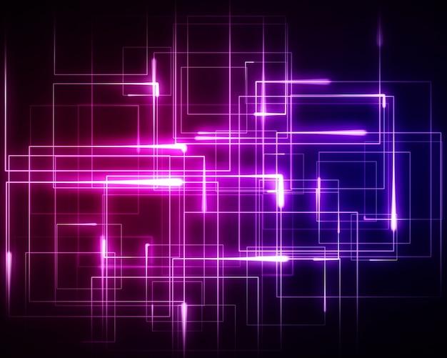 Mehrere rosa und blaue geometrische lichter