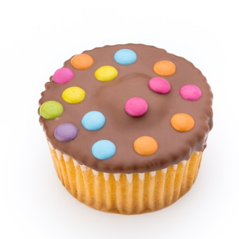 Mehrfach bunt dekoriertes muffin