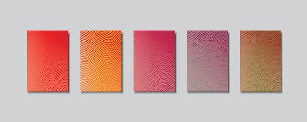 Mehrfarbige abstrakte vektorhintergründe aus kreisen.