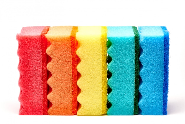 Mehrfarbige küchenschwämme