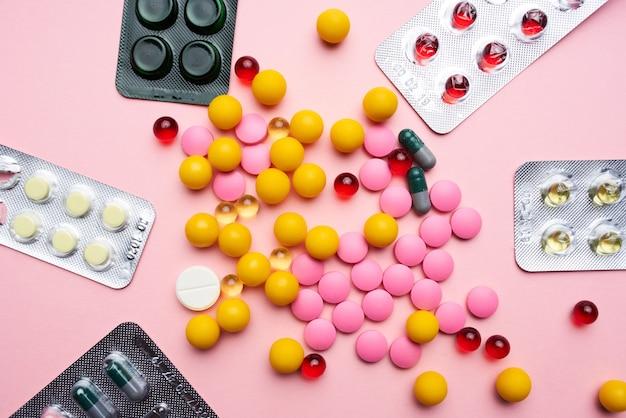 Mehrfarbige medizin pharmazeutische gesundheitsmedizin