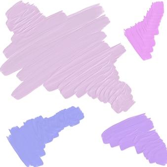 Mehrfarbige pinselstriche mit ölfarbe