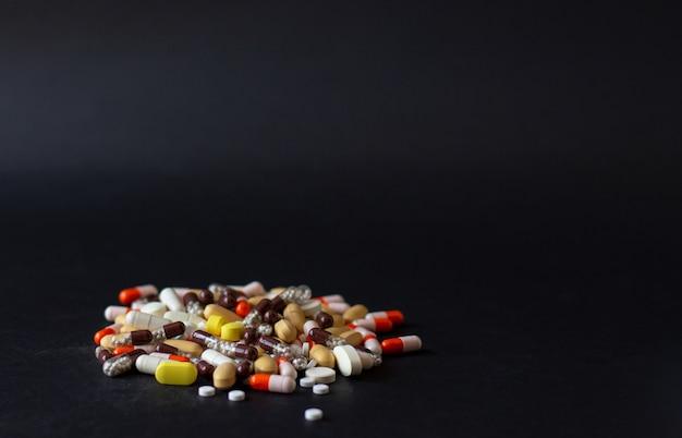 Mehrfarbige verschiedene pillen