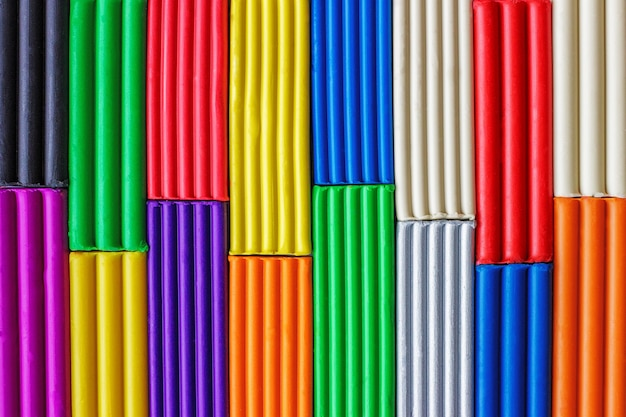 Mehrfarbiger plasticinehintergrund