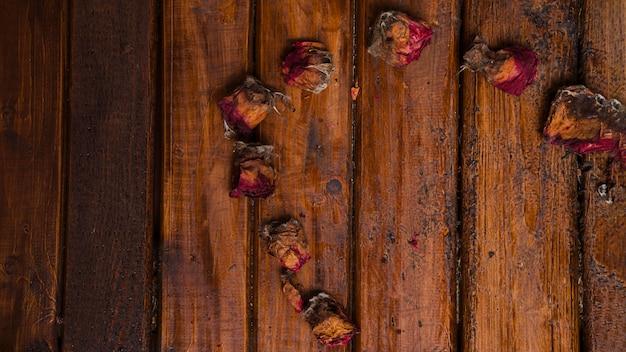 Mehrzweckhintergrund von getrockneten rosen