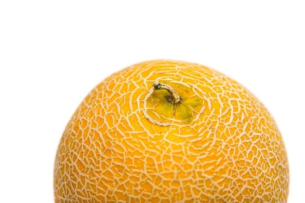 Melone auf weißem hintergrund