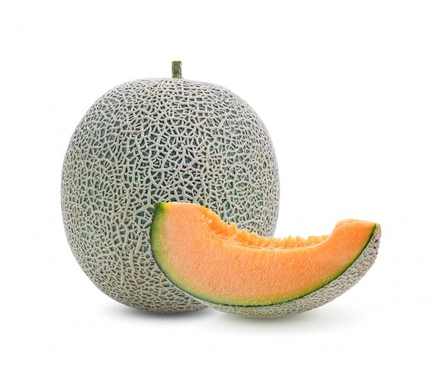 Melone isoliert auf weißem raum.