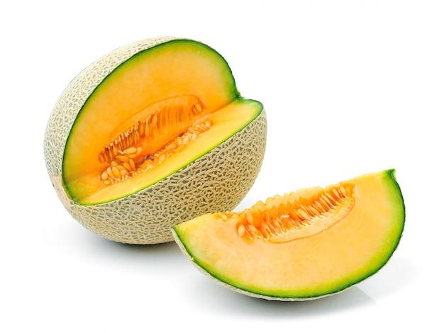 Melone melone auf weiß