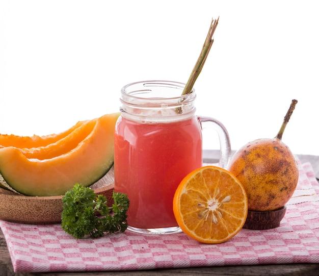 Melonen- und granatapfel-smoothies