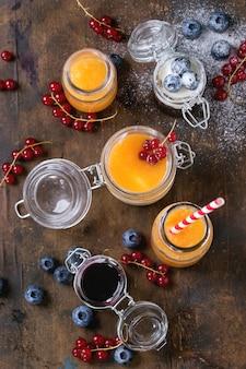 Melonen- und heidelbeer-smoothie