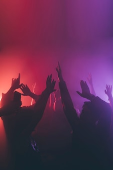 Menge im nachtclub