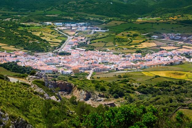 Menorca es mercadal luftbild von pico del toro in balearen