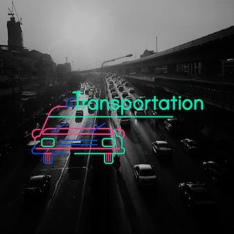 Menschen reisen transportfahrzeug