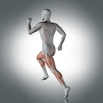 Menschliche figur laufen