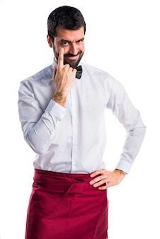 Menschlicher junger bartmann butler