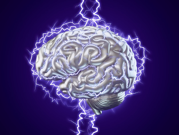 Menschliches brainstorming-konzept