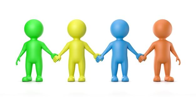 Menschliches freundschaftskonzept