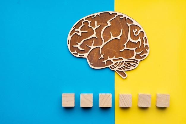 Menschliches gehirn für autismuskonzept