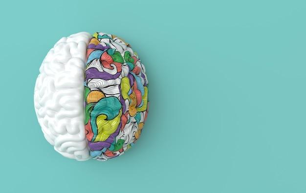 Menschliches gehirn, kreatives denken