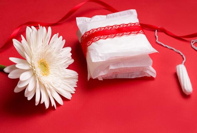 Menstruation bei frauen. dichtungen und.