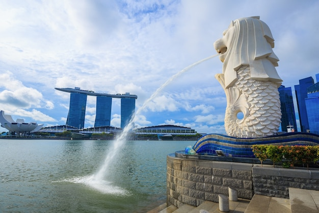 Merlion park in singapur stadt