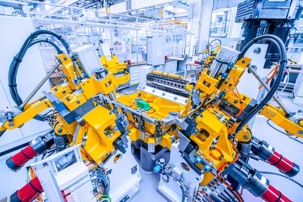Mess- und prüfstation in der autofabrik