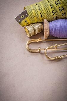 Messen flexibler linealgewindespulenverschlussstifte fingerhüte