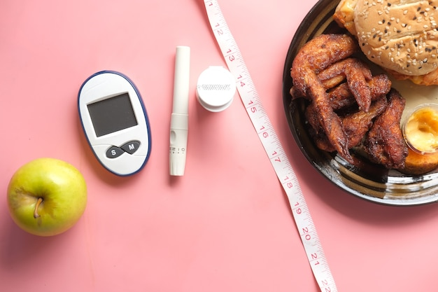 Messinstrumente für diabetiker und apfel im vergleich zu junk food