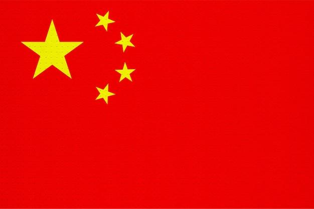 Metall chinesische nationalflagge von china, asien,