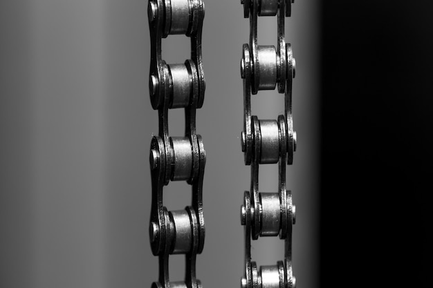 Metall fahrradkette. nahansicht
